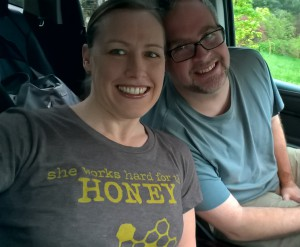 On the road to Bailey Bee Supply to pick up our new bees!